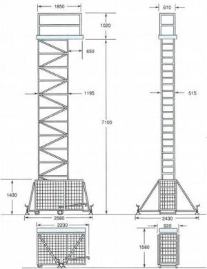Аренда подъемника Pedal lift PL-324 CE